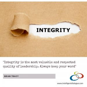 integrity is the most valuable quality of leadership